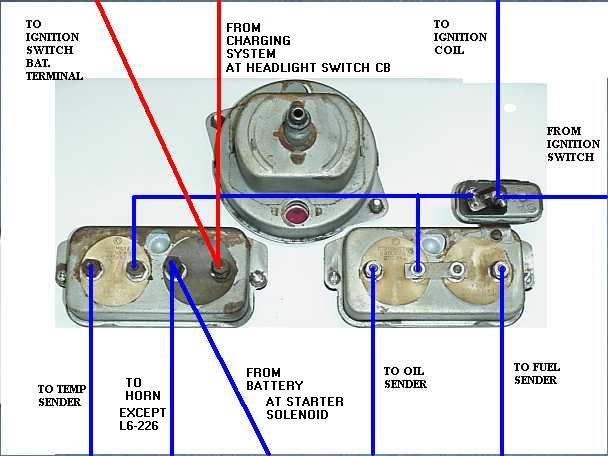Gauge_Wiring 1950 1 2 to 1956 willys utility vehicles diagnostics for gauges 12 Volt Alternator Wiring Diagram at eliteediting.co